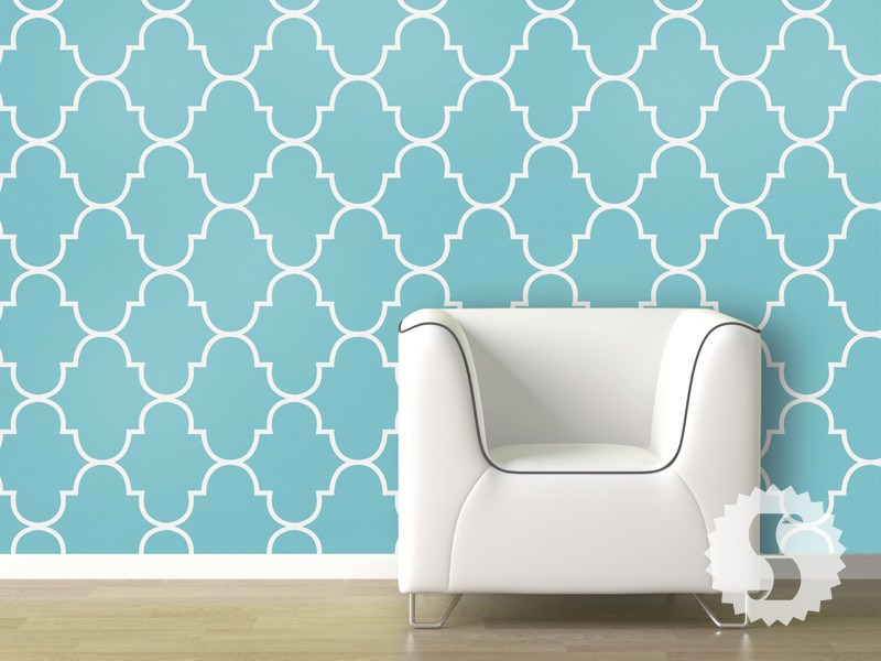 classic trellis removable temporary wallpaper - Temporary Walpaper