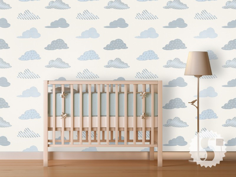 wallpaper temporary removable wallpaper clouds nursery baby