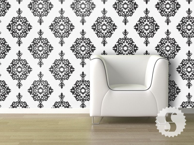 diamond damask removable temporary wallpaper - Temporary Walpaper