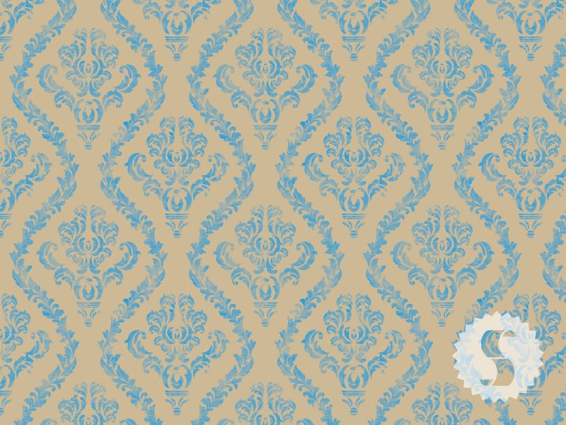 distressed damask removable temporary wallpaper - Temporary Walpaper