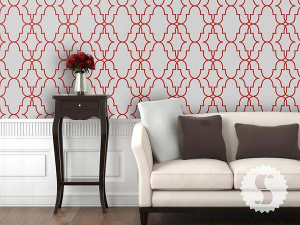 Double Trellis Removable & Temporary Wallpaper