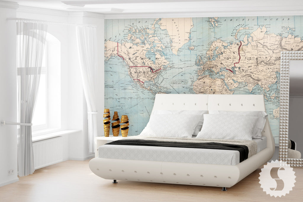 Wall Mural Posters wall mural poster old vintage antique maps of the world baby