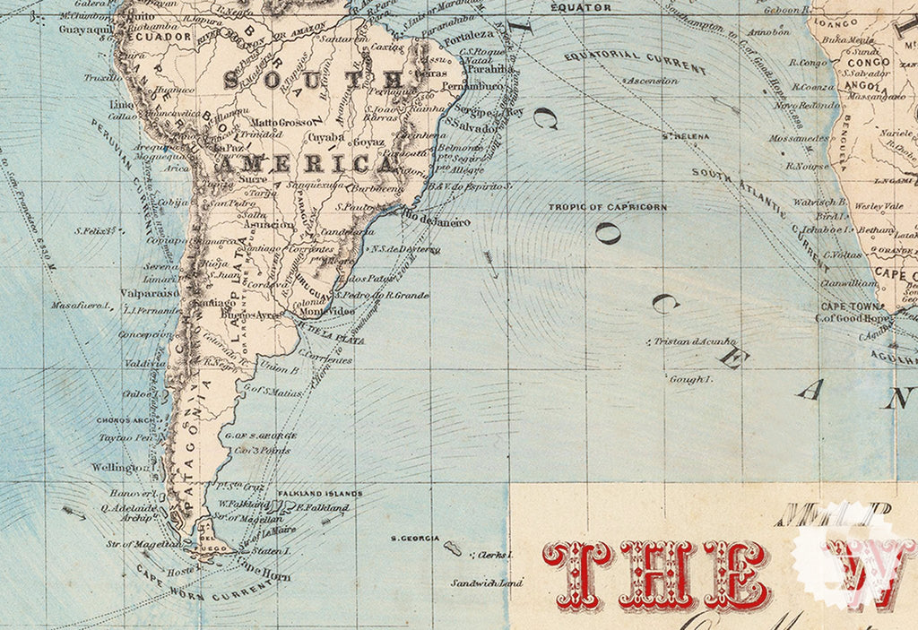 Map Of The World Wall Mural Part 62