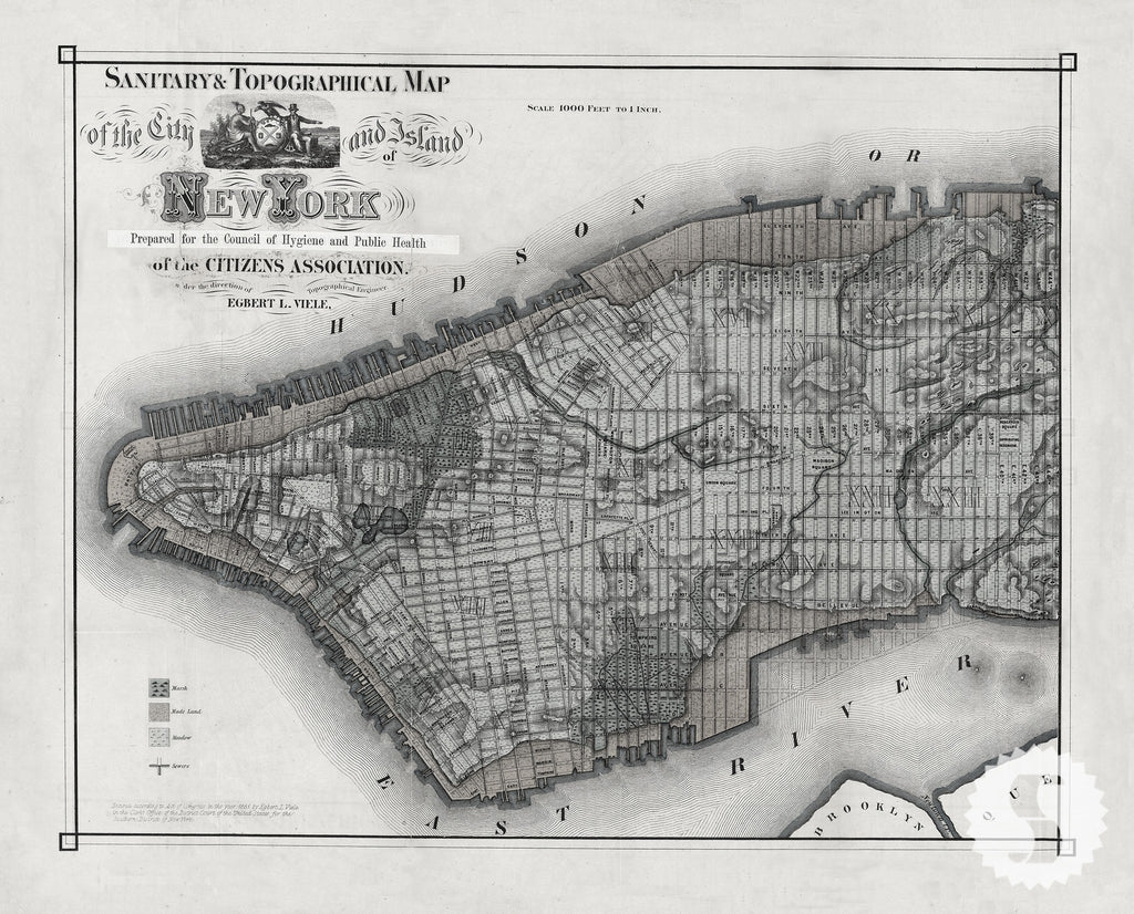 Wall mural poster old vintage antique new york city maps nyc new york city map wall mural amipublicfo Gallery