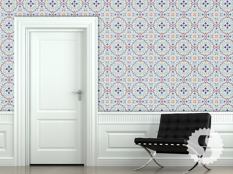Removable Wallpaper Tiles wallpaper temporary removable wallpaper moroccan tiles red