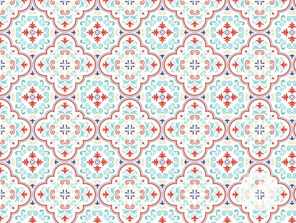 wallpaper temporary removable wallpaper moroccan tiles red