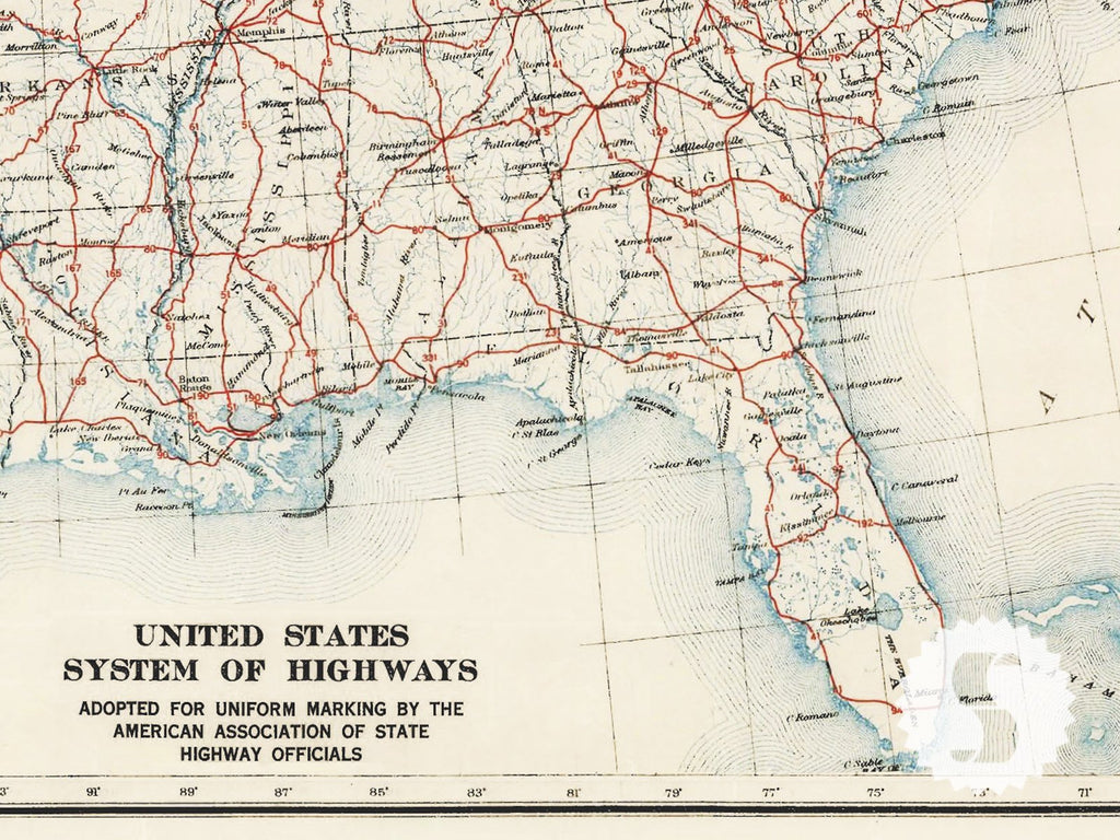 US Atlas Map - Us atlas map with highways