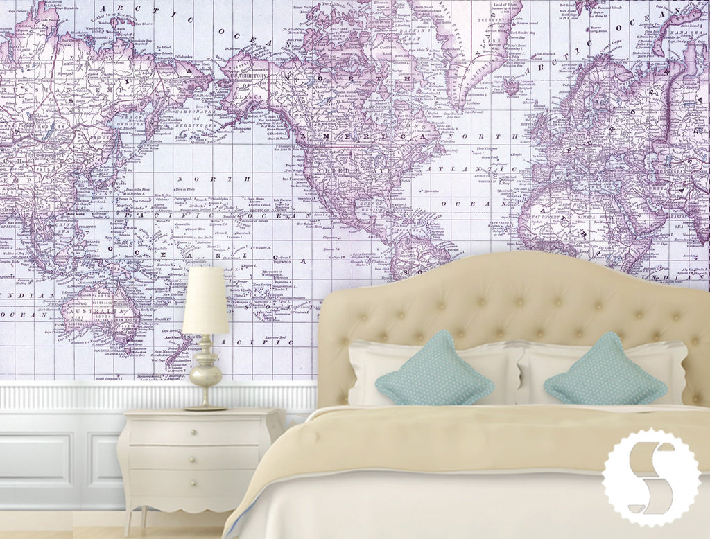 Wall mural poster old vintage antique maps world atlas map world atlas map wall mural amipublicfo Gallery