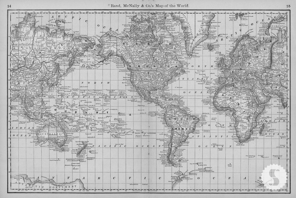 World atlas map wall mural berry vintage black white world map one world atlas map wall mural berry vintage black white gumiabroncs Choice Image
