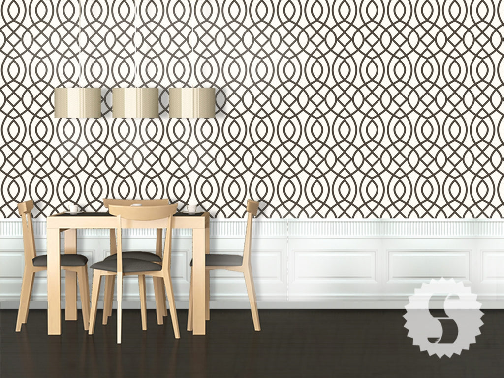 Woven Trellis Removable & Temporary Wallpaper
