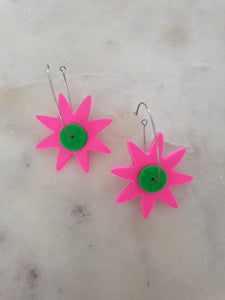 Block Colour Bloom Hoops