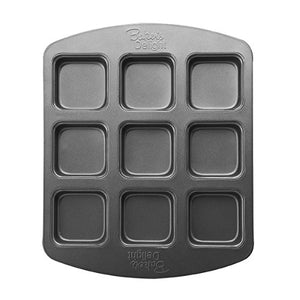 Baker's Advantage Nonstick Brownie Muffin Bar Pan, 9-Cavity