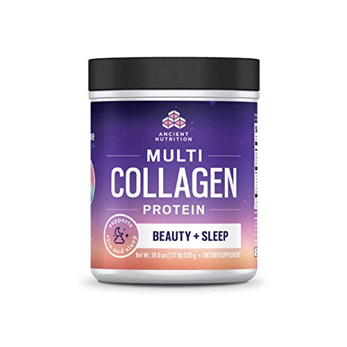 Ancient Nutrition Multi Collagen Protein Powder, Beauty + Sleep, Lavender Bergamot Flavor - 38 Servings