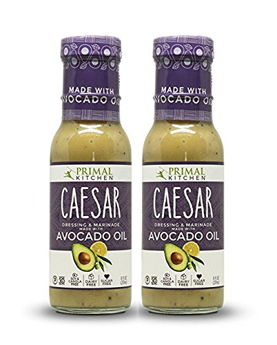 Primal Kitchen - Caesar, Avocado Oil-Based Dressing and Marinade, Whole30 and Paleo Approved (8 oz, 2-Pack)
