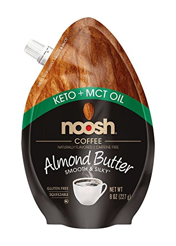 NOOSH Keto Almond Butter Coffee Flavor - 8 Fl. Oz - All Natural, Vegan, Gluten Free, Soy Free - Ketogenic and Low Carb Friendly
