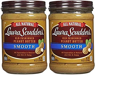 Laura Scudder's Natural Creamy Peanut Butter, 16 oz, 2 pk