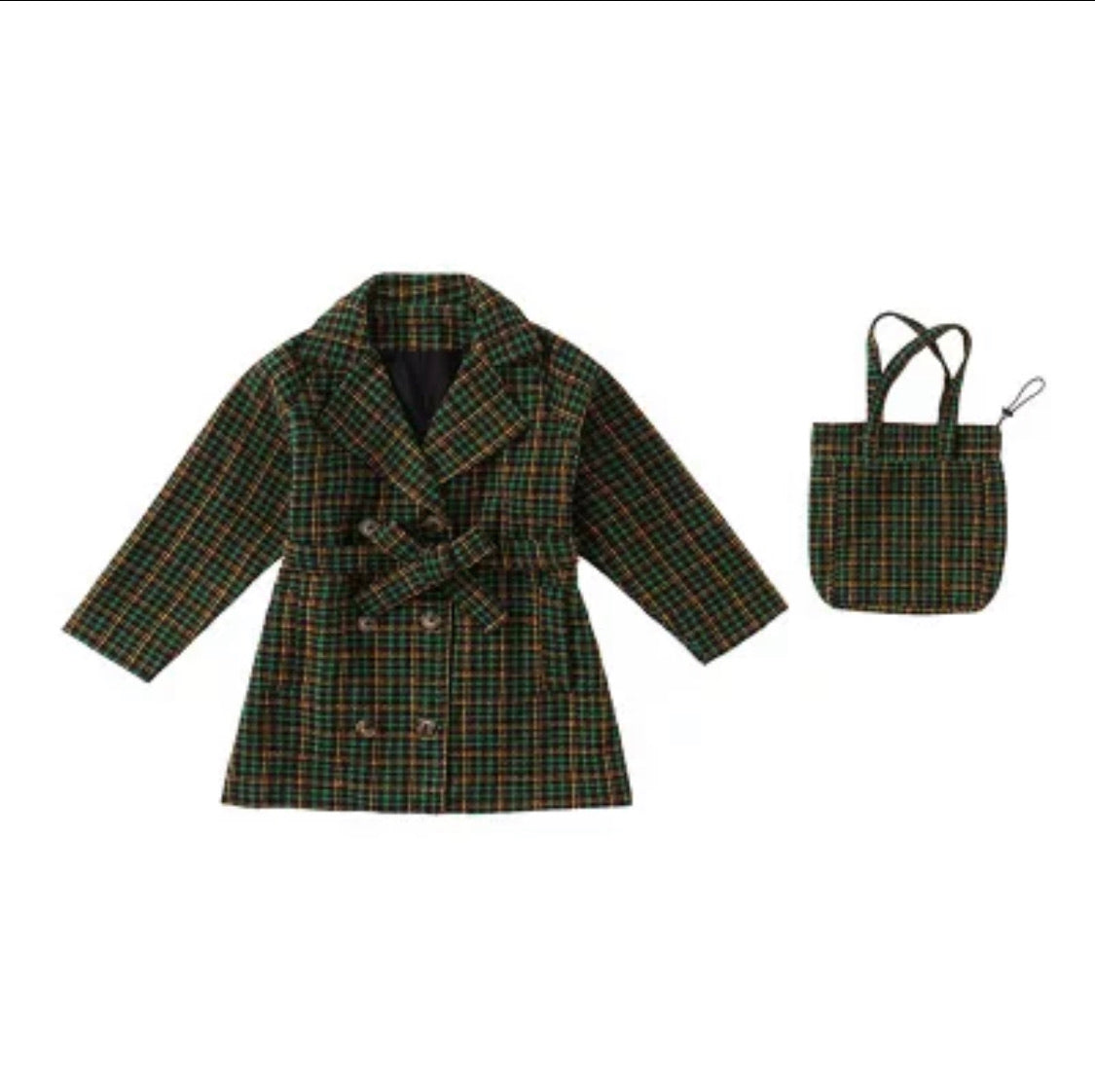 Plaid things blazer and bag