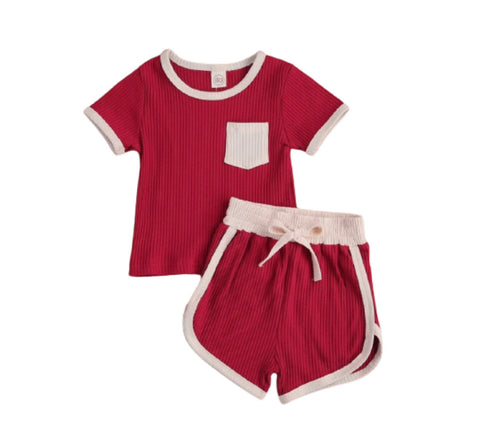 Trendy lounge set- wine red