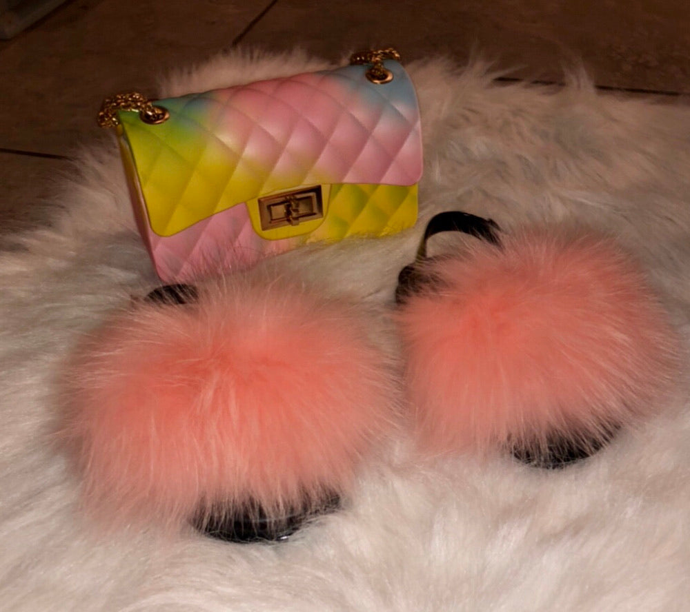 Bubble gum fur slides