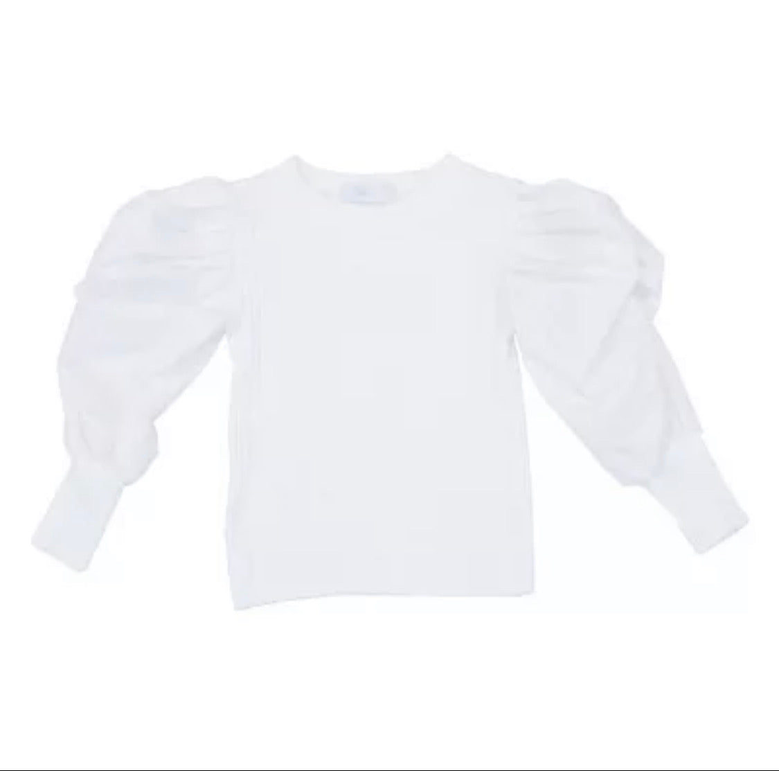 Ruffle sleeve top white