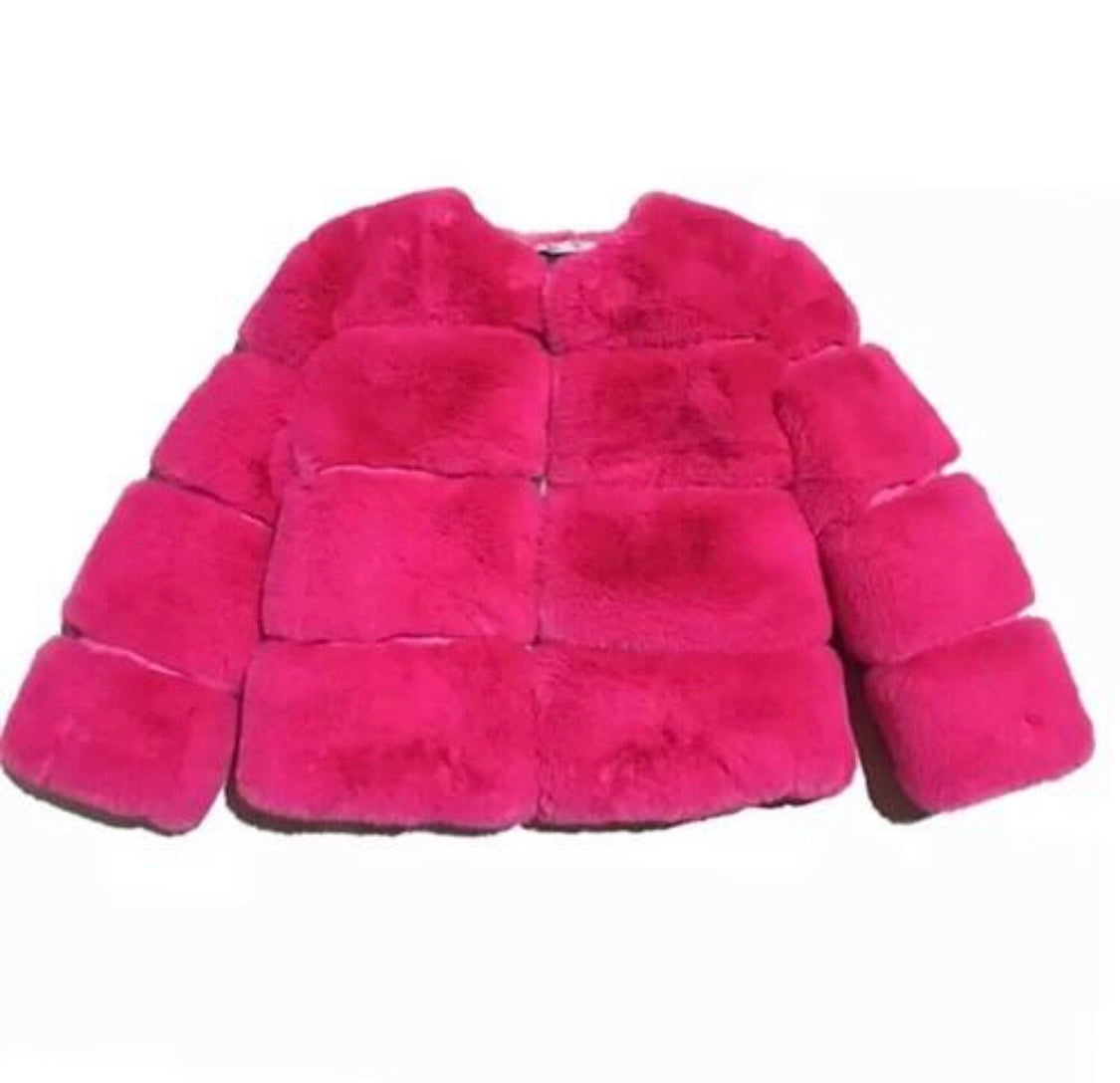 Pink furry things jacket