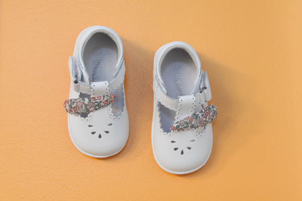 Baby Girls Mary Janes with Liberty of London Snap Hair Clips