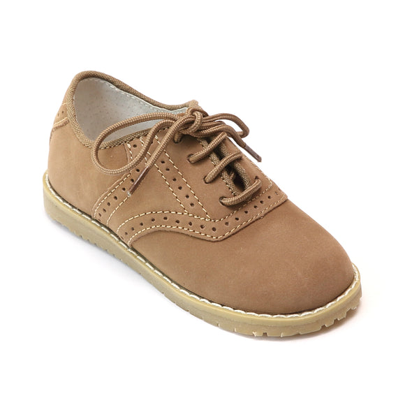 L'Amour Boys Nubuck Leather Oxfords