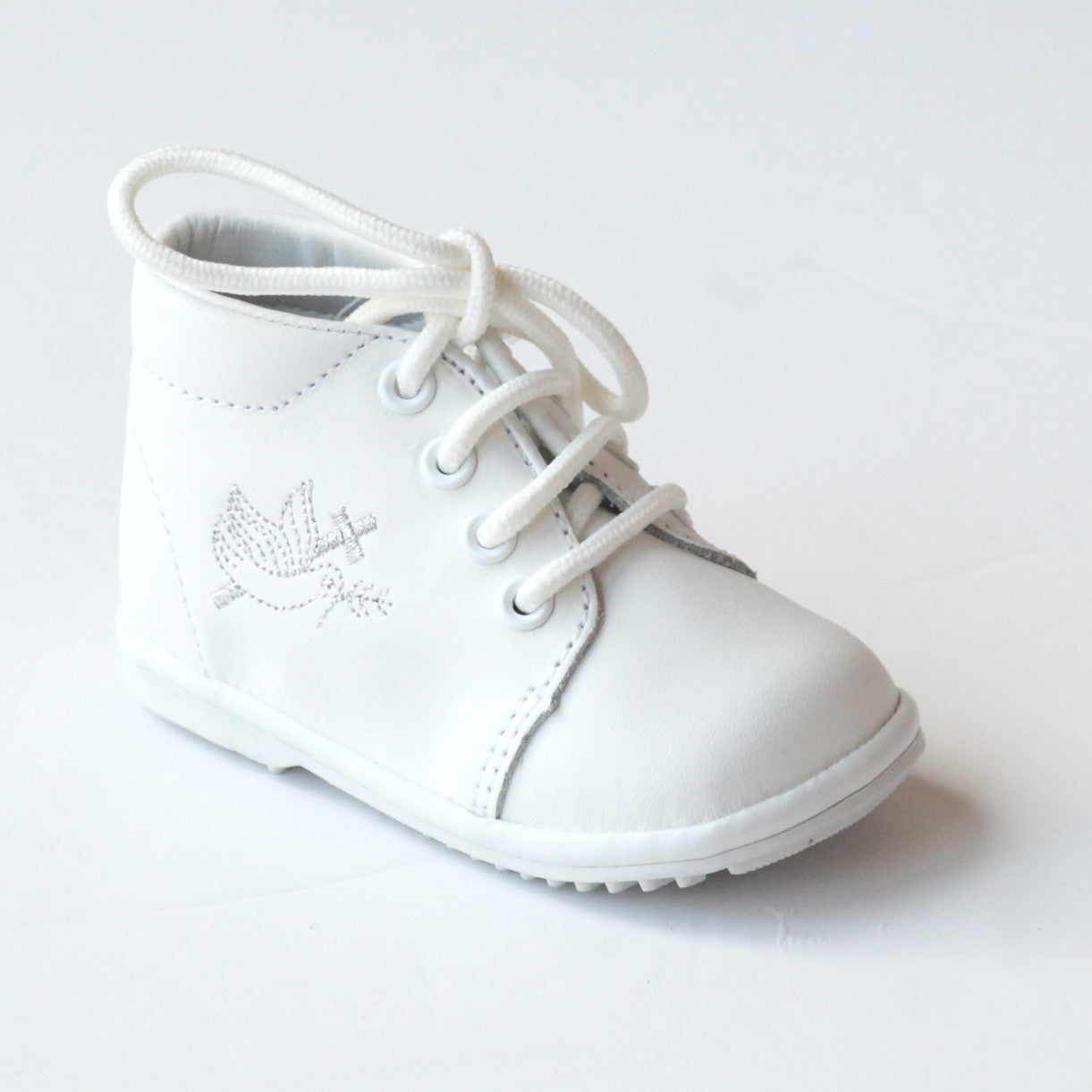 Angel Baby Boys White Baptism Lace Up Oxford Shoes – Babychelle dd79faf4c994