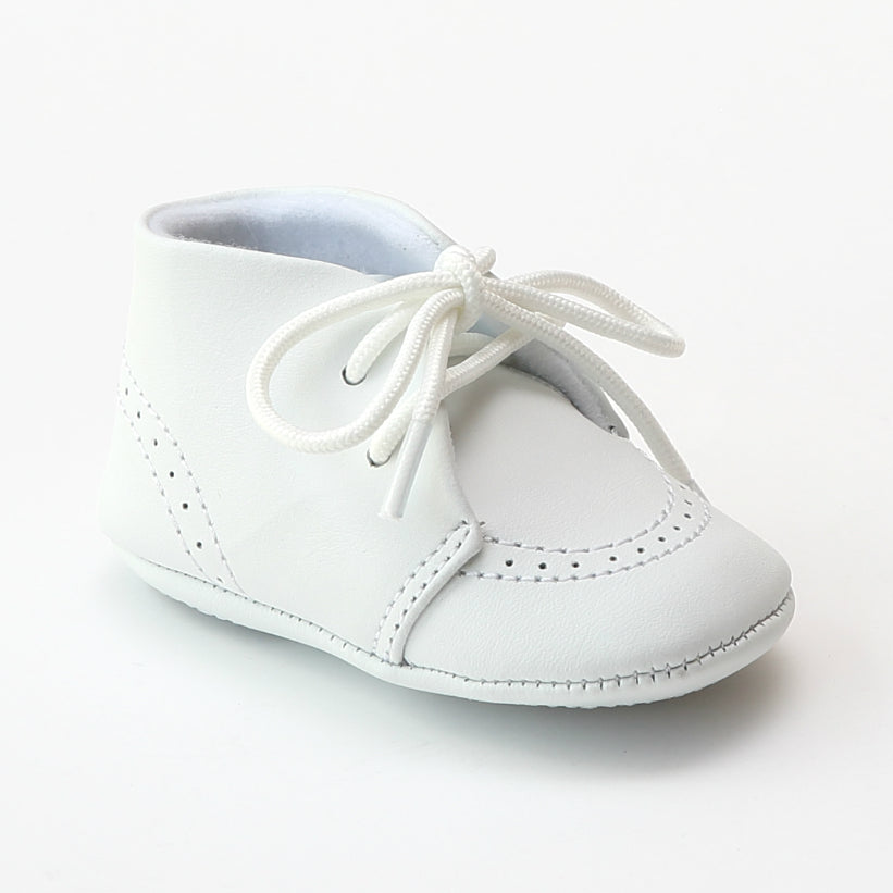 Lamour Shoes Infant Boys 3890 White Leather Dress Crib Shoes