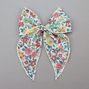 Girls Liberty of London Midi Bow with Alligator Clip - Flora Hair Bow - Babychelle.com