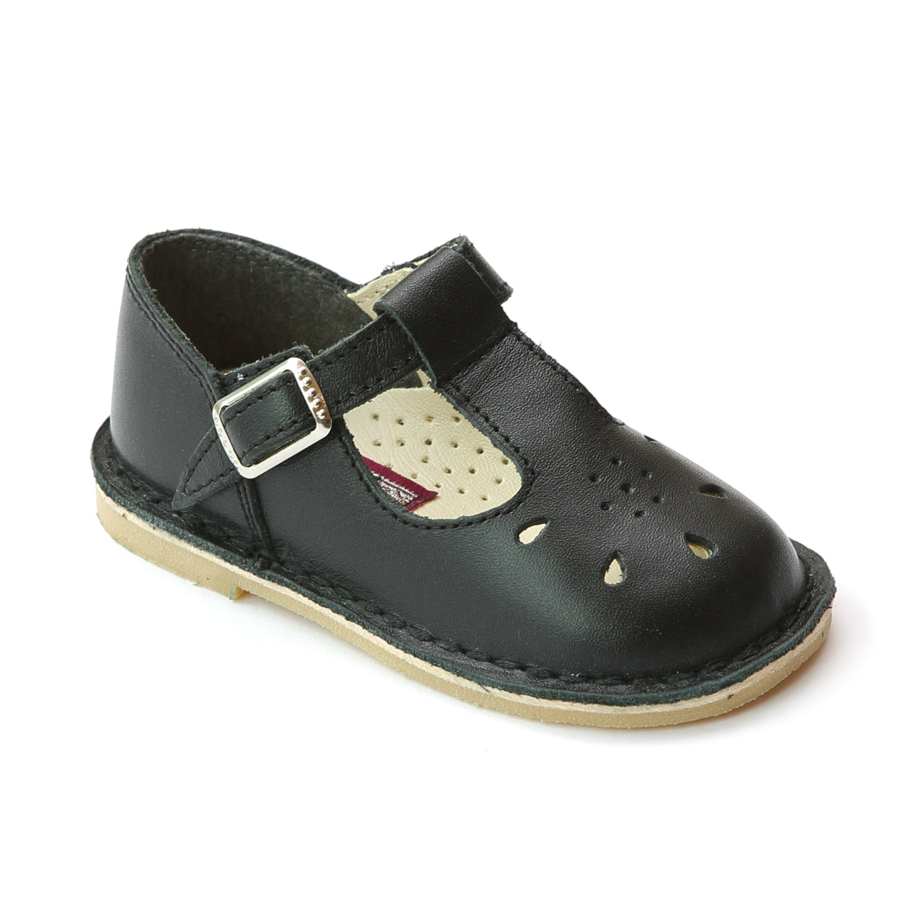 T-Strap Leather Mary Janes