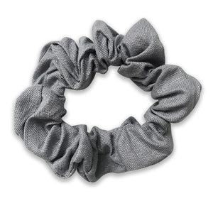 Alice Girls Gray Linen Scrunchie - Babychelle.com