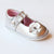 Angel Infant Girls Rhinestone Silver Flower Mary Janes