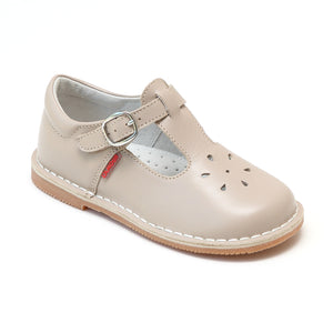 L'Amour Girls Joy Classic Almond T-Strap Mary Janes - Babychelle.com