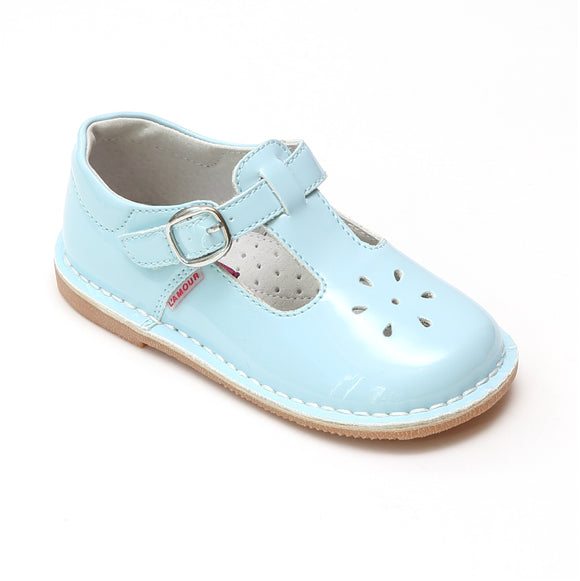 L'Amour Girls Joy 751 Classic Patent T-Strap Mary Janes - Babychelle.com