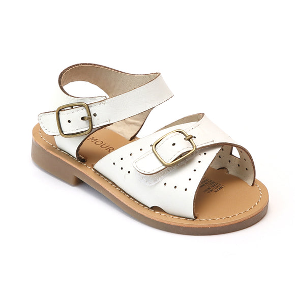 L'Amour Girls Leather Buckled Sandals