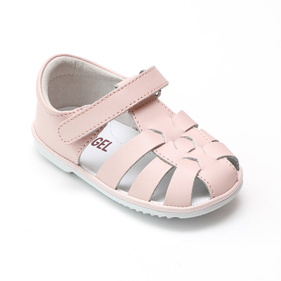 Angel Baby Girls Christie Leather Fisherman Sandals - Babychelle.com