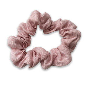 Charlie Girls Dusty Pink Linen Scrunchie