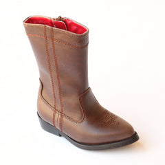 L'Amour Girls D700 Brown Western Cowboy Boots
