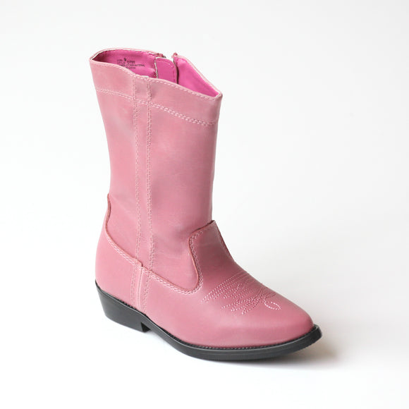 L'Amour Girls Pink Western Cowboy Boots