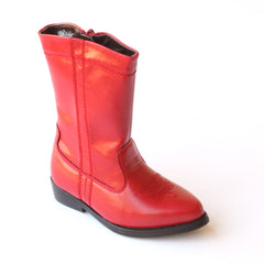 L'Amour Girls D700 Red Western Cowboy Boots