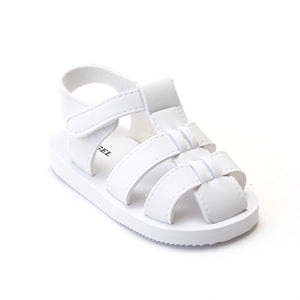 Angel Baby Girls EVA White Foam Fisherman Sandals - Babychelle.com