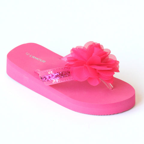 L'Amour Girls Sequin EVA Foam Sandals