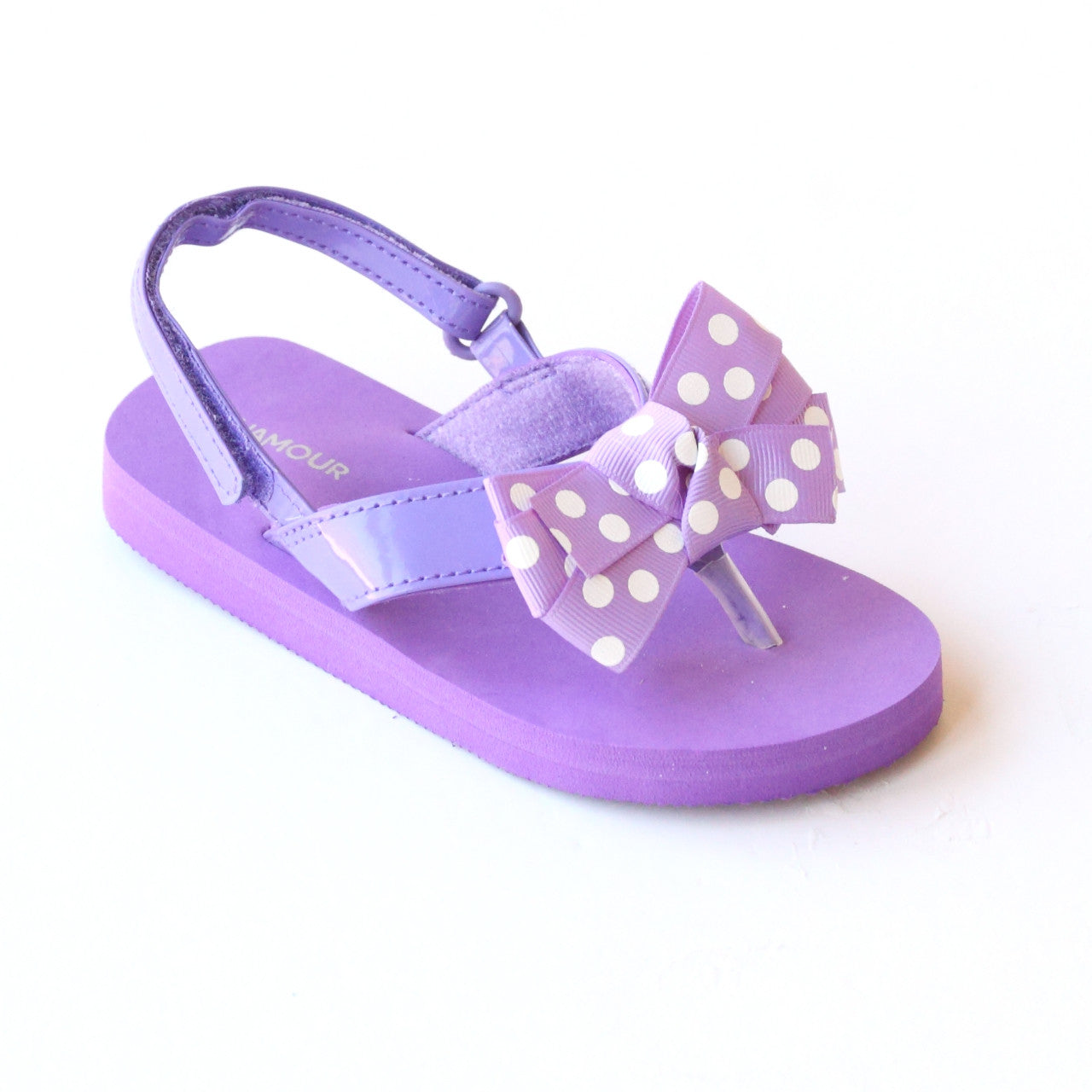 6e17807a7 L Amour Girls Polka Dot Bow Flip Flop Sandals – Babychelle