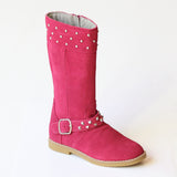 L'Amour Girls Studded  Suede Tall Boots