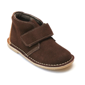 L'Amour Boys Brown Velcro Strap Boots - Babychelle.com