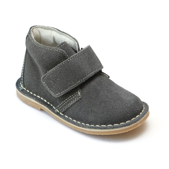 L'Amour Boys Gray Velcro Strap Boots - Babychelle.com