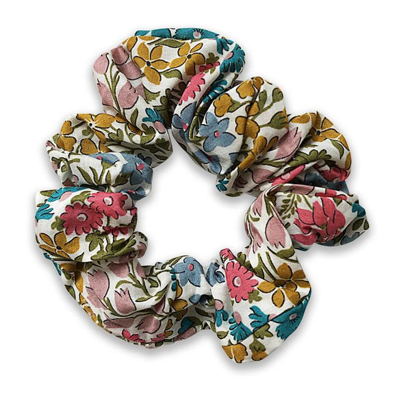 Girls Liberty of London Floral Linen Hair Scrunchie - Babychelle.com