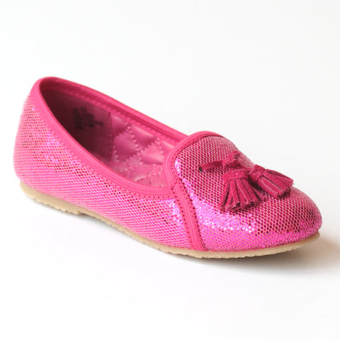 L'Amour Girls G420 Tassel Sequin Slippers