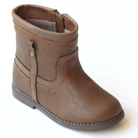 L'Amour Brown Boys G703 Ankle Boots